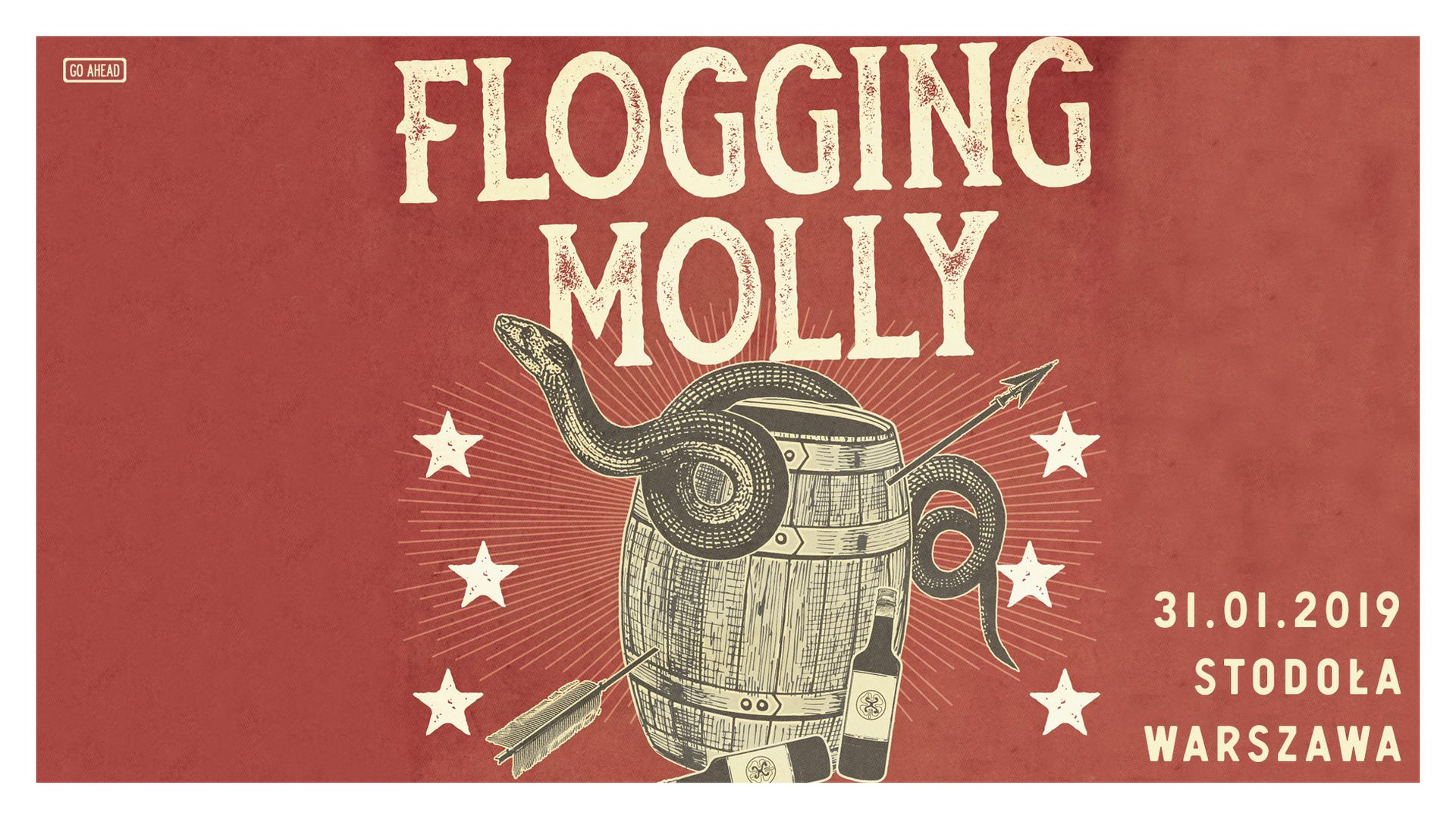 Bilety kolekcjonerskie - Flogging Molly