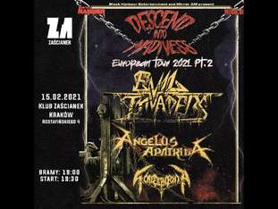 "Evil Invaders, Angelus Apatrida ""Descend Into Madness Tour 2021 Pt. 2"" - bilety"