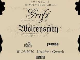 GRIFT (acoustic solo set) + Wolcensmen - bilety