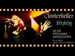 Closterkeller + Blitzkrieg - bilety