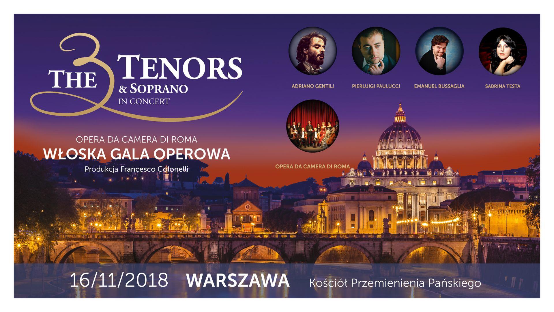 Bilety kolekcjonerskie - The 3 Tenors & Soprano