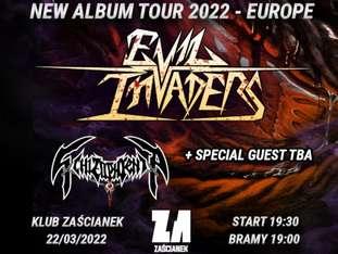 "Evil Invaders, Schizophrenia ""New Album Tour 2022"" - bilety"